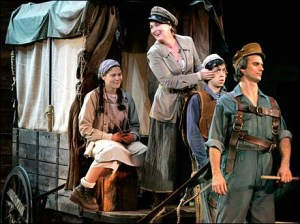 From August to September 2006, Mother Courage  was produced by The Public Theater in New York City. Meryl Streep played Mother Courage with a supporting cast that included Kevin Kline and Austin Pendleton. This production was free to the public and played to full houses at the Public Theater's Delacorte Theater in Central Park. It ran for four weeks.