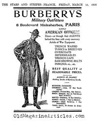 The trench coat was originally developed for British and French soldiers in the First World War by Thomas Burberry.