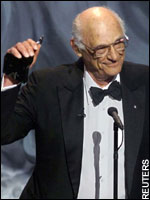 Artifact: this is Arthur Miller accepting his Lifetime Achievement Award at the Tony Awards Ceremony.